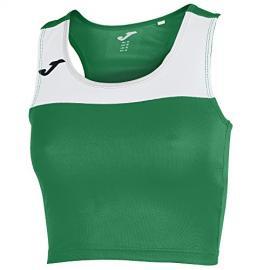 Camiseta Mujer Race Verde-Blanco S/m Xxl
